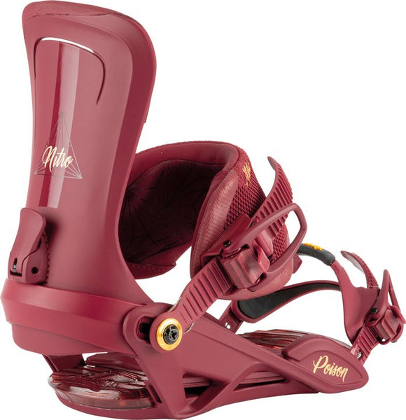 NITRO POISON SNOWBOARD BINDING 2021 - ROYAL RED