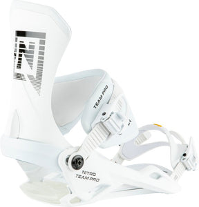 NITRO TEAM PRO SNOWBOARD BINDING 2021 - WHITE SHADOW