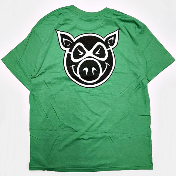 PIG F&B HEAD T-SHIRT - H.GREEN