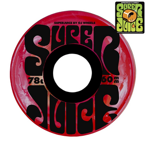 OJ SUPER JUICE TRANSPARENT RED WHEELS 60mm/78a