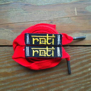 ROTI SHOELACE BELT - RED