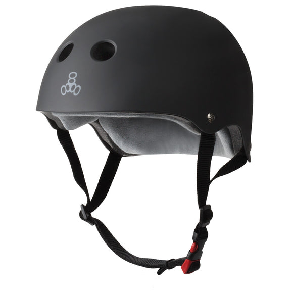 TRIPLE 8 THE CERTIFIED SWEATSAVER HELMET / BLACK RUBBER