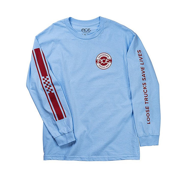 ACE RETRO JERSEY L/S TEE - POWDER BLUE