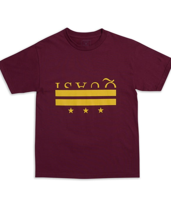 QUASI DISTRICT TEE - BURGUNDY