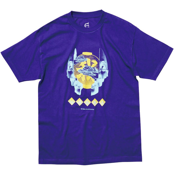 EVISEN SUSHI FACE TIME TEE - PURPLE