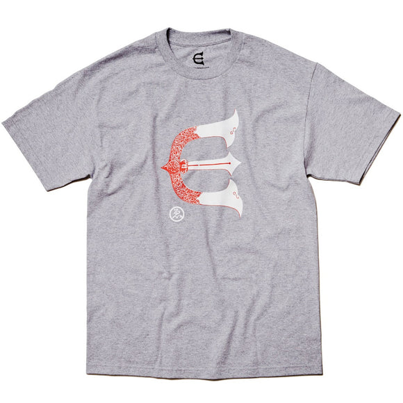 EVISEN KABUTO LOGO TEE - HEATHER GREY