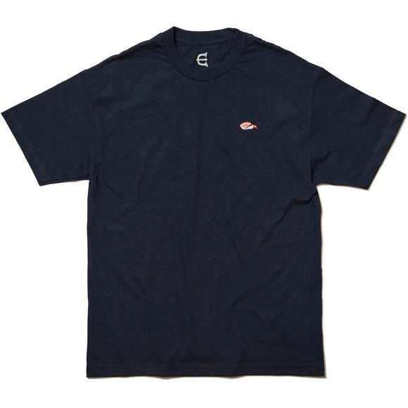 EVISEN SUSHI EMBROIDERED TEE - NAVY
