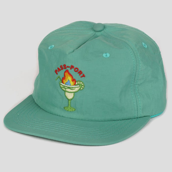 PASSPORT FLAMING 5-PANEL CAP - TEAL