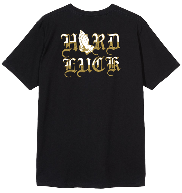 HARD LUCK LUTEM T-SHIRT - BLACK