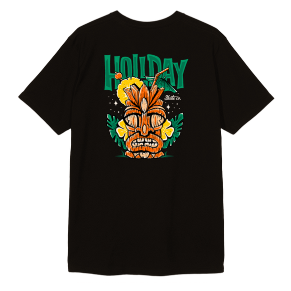 HOLIDAY Tiki Drink Tee - Black