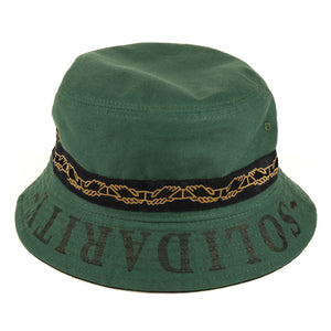 PASSPORT INTER.SOLID REVERSABLE BUCKET HAT - GREEN