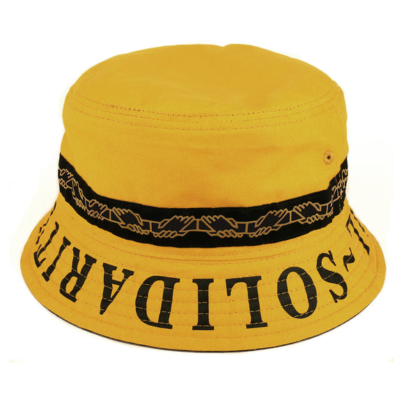 PASSPORT INTER.SOLID REVERSABLE BUCKET HAT - MUSTARD
