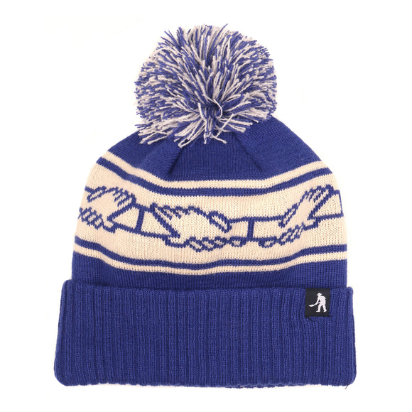 PASSPORT INTER.SOLID POM POM BEANIE - NAVY
