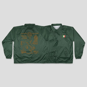 PASSPORT INTERNATIONAL TEA TOWEL ITALY COACH JACKET - FOREST GREEN