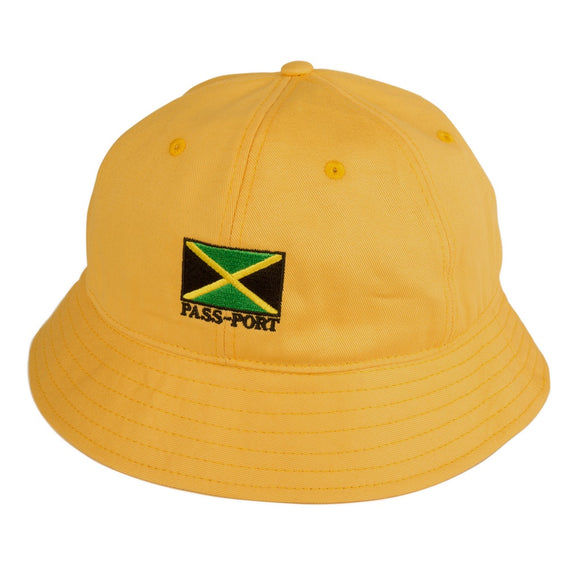 PASSPORT JAMAICA BUCKET HAT - YELLOW