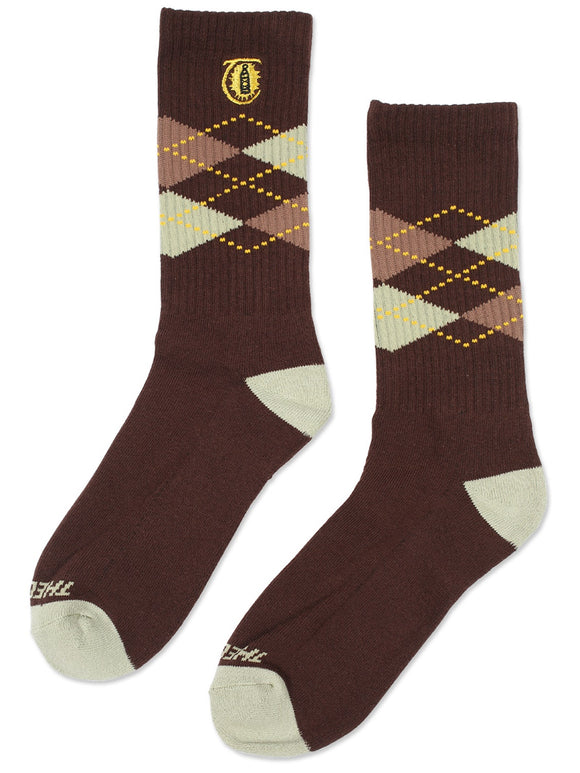 THEORIES Lantern Argyle Crew Socks