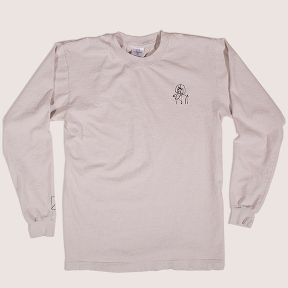 NUMBERS 12:45 ANGEL L/S T-SHIRT - CEMENT