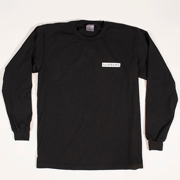 NUMBERS MITERED LOGOTYPE L/S T-SHIRT - BLACK