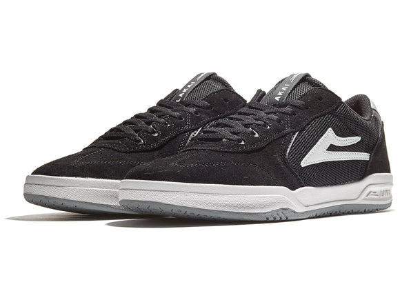 LAKAI ATLANTIC SHOES - BLACK/LIGHT GREY SUEDE