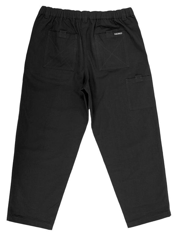 THEORIES Stamp Lounge Pant - Black