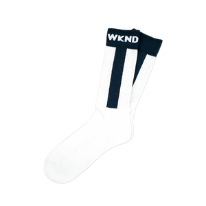 WKND BASEBALL SOCKS - NAVY/WHITE