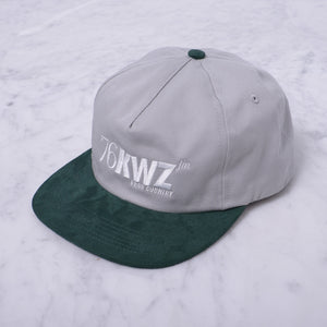 QUASI SHORTWAVE 5-PANEL CAP - GREY/HUNTER