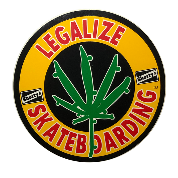 SHORTY'S Legalize It Sticker 6-1/4