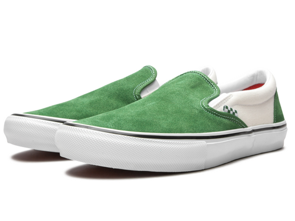 VANS Skate Slip On Shoes - Juniper/White
