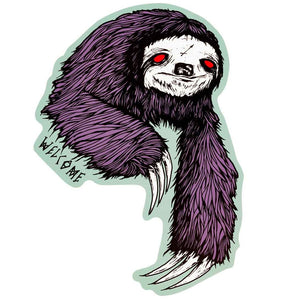 WELCOME SLOTH STICKER - PURPLE/SAGE 6.5""