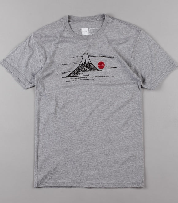 CHOCOLATE RISING SUN TRI-BLEND TEE - HEATHER GREY