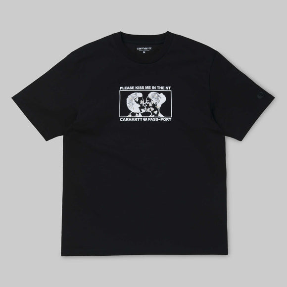 CARHARTT WIP X PASSPORT GOOD BYE TEE -  BLACK