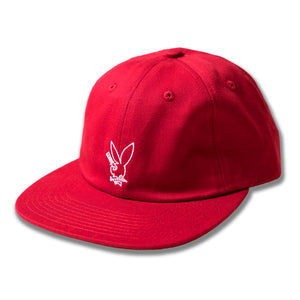 GX1000 PLAYBOY KNIFE 6-PANEL STRAPBACK - RED