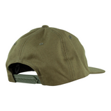 WELCOME SMILEY UNSTRUCTURED SNAPBACK HAT - OLIVE