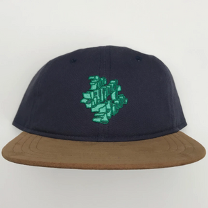 THE KILLING FLOOR KNOWN M.O.B. LOGO HAT - NAVY/SUEDE BILL