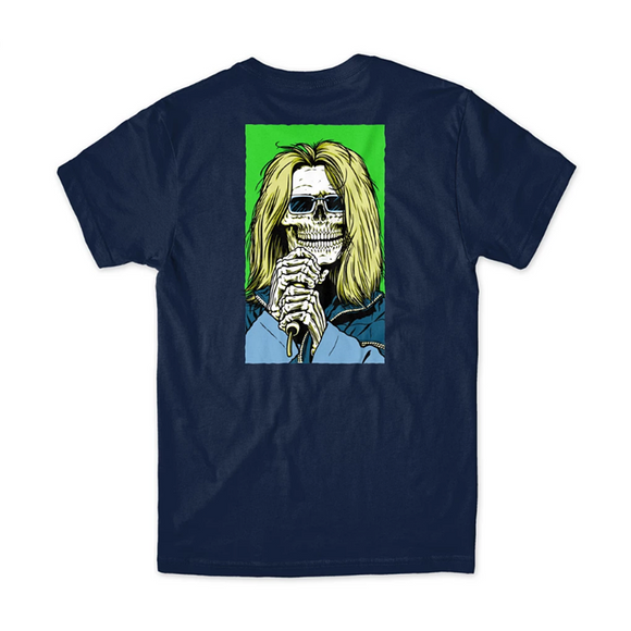GIRL X SEAN CLIVER SKULL OF FRAME T-SHIRT - NAVY