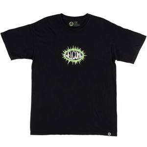 WELCOME BURST GARMENT DYED TEE - BLACK