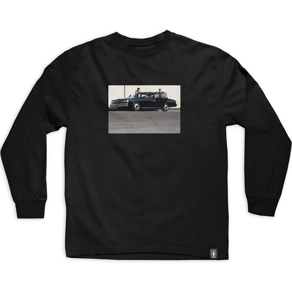 GIRL X BEASTIE BOYS SPIKE JONES L/S TEE - BLACK