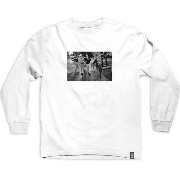 GIRL X BEASTIE BOYS SPIKE JONES L/S TEE - WHITE