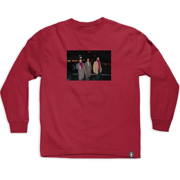 GIRL X BEASTIE BOYS SPIKE JONES L/S TEE - CARDINAL