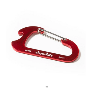 Chocolate Red Carabiner