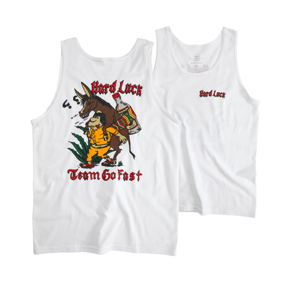 HARD LUCK TEQUILA TANK TOP - WHITE
