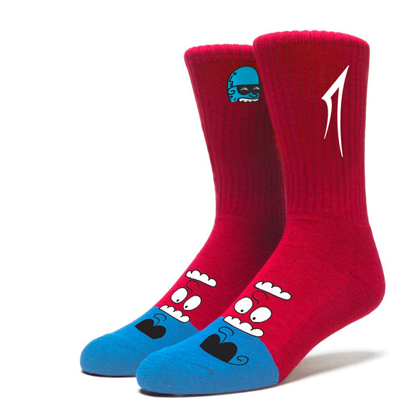 LAKAI GLABOE CREW SOCKS - RED
