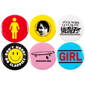 Girl Buttons 6 Pack