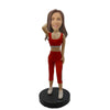 Red Short Pants Soprts Girl Custom Bobblehead