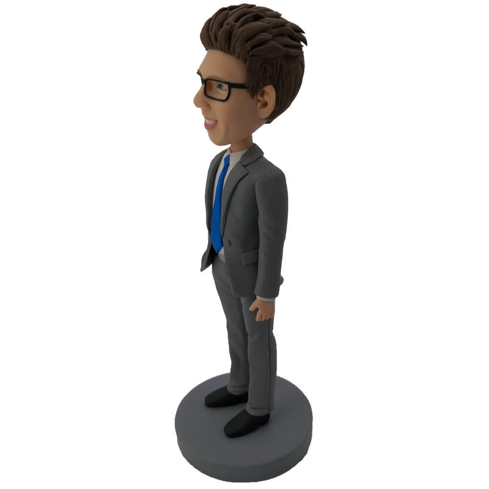 Neat Suit Client Manager Custom Bobblehead