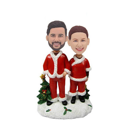 Christmas Couple Custom Bobblehead