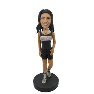 Levis Girl Custom Bobblehead