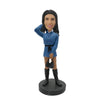 Black Boots Handbag Lady Bobblehead