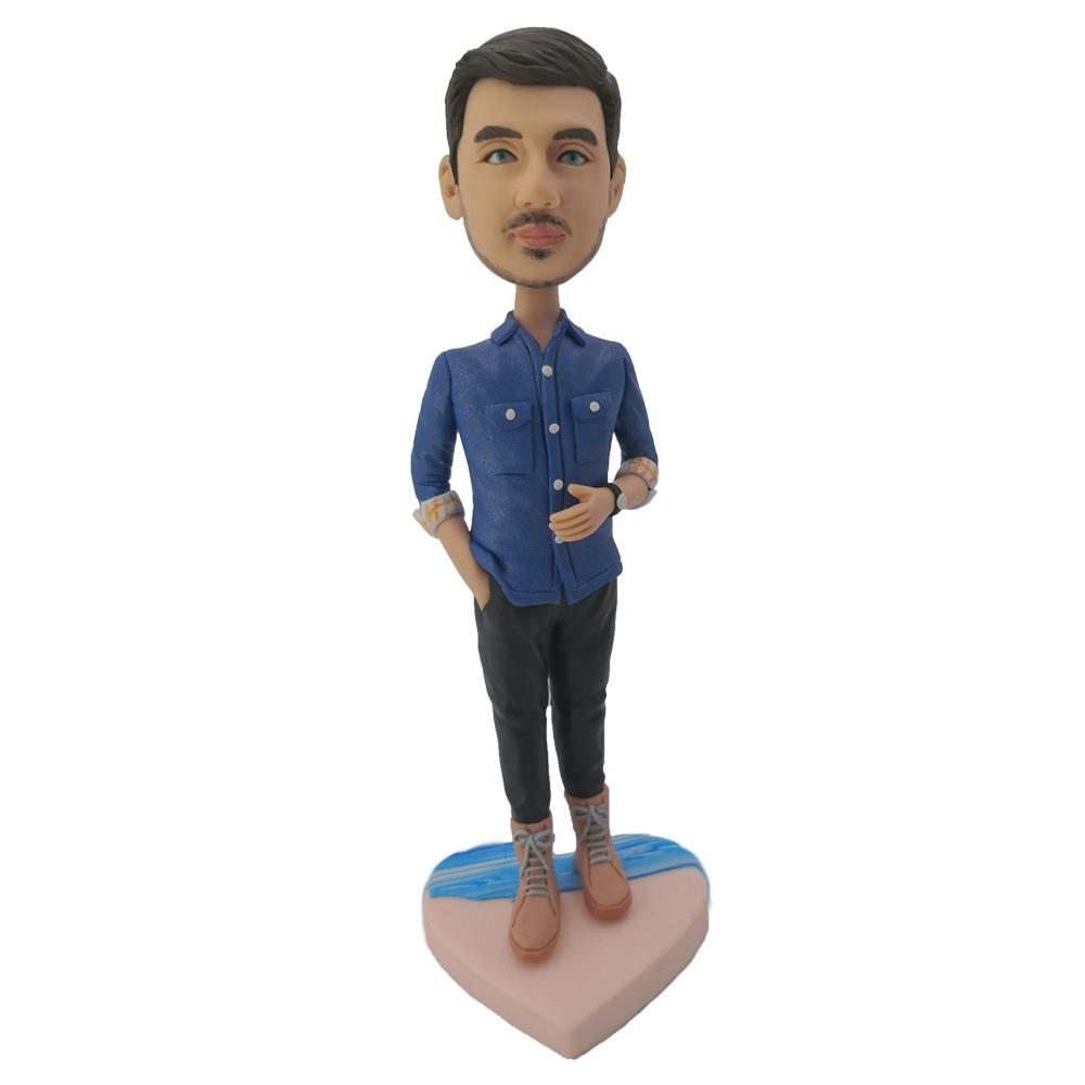 Jeans Leisure Man Custom Bobblehead