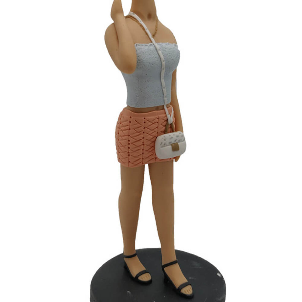 Fashionable Short Suit Girl Bobblehead